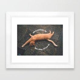 best thing Framed Art Print