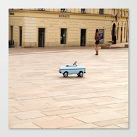 toddler Canvas Prints featuring Toddler Car In Monaco by ExperienceTheFrenchRiviera