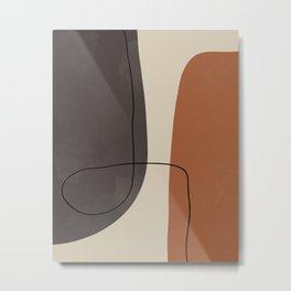 Modern Abstract Shapes #2 Metal Print