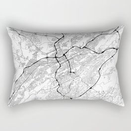 Minimal City Maps - Map Of Birmingham, Alabama, United States Rectangular Pillow