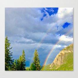 Canadian Rocky Rainbow Canvas Print