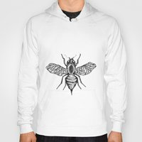 bee Hoodies featuring Bee by Aubree Eisenwinter
