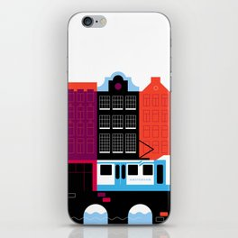 Postcards from Amsterdam / Tram iPhone Skin