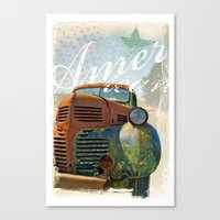 american Canvas Prints featuring American by m1 design group