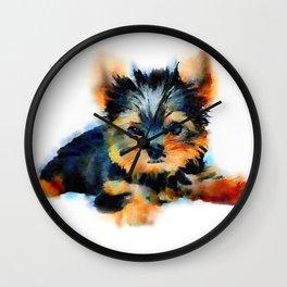 Yorki Pup Wall Clock
