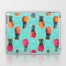 From Pineapple to Pink - tropical doodle pattern on mint Laptop & iPad Skin