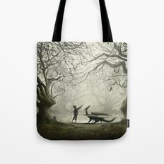 The Boy And His Dragon Tote Bag
