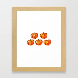 Watercolor Pumpkins Framed Art Print