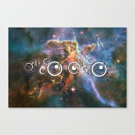 Doctor Who Timey-Wimey with the Carina Nebula Canvas Print