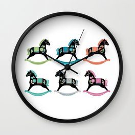Rocking Horses Wall Clock