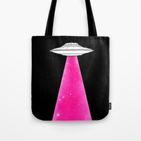 ufo Tote Bags featuring UFO by Beyond Infinite