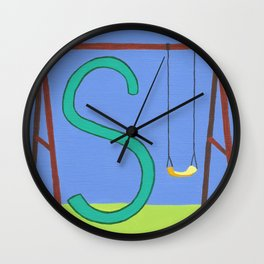 S is for Swing Wall Clock