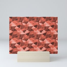 Pantone Living Coral Abstract Geometrical Triangle Patterns 4 Pantone Living Coral Mini Art Print