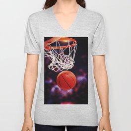 Basketball Unisex V-Neck