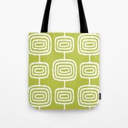 Mid Century Modern Atomic Rings Pattern 771 Green Tote Bag