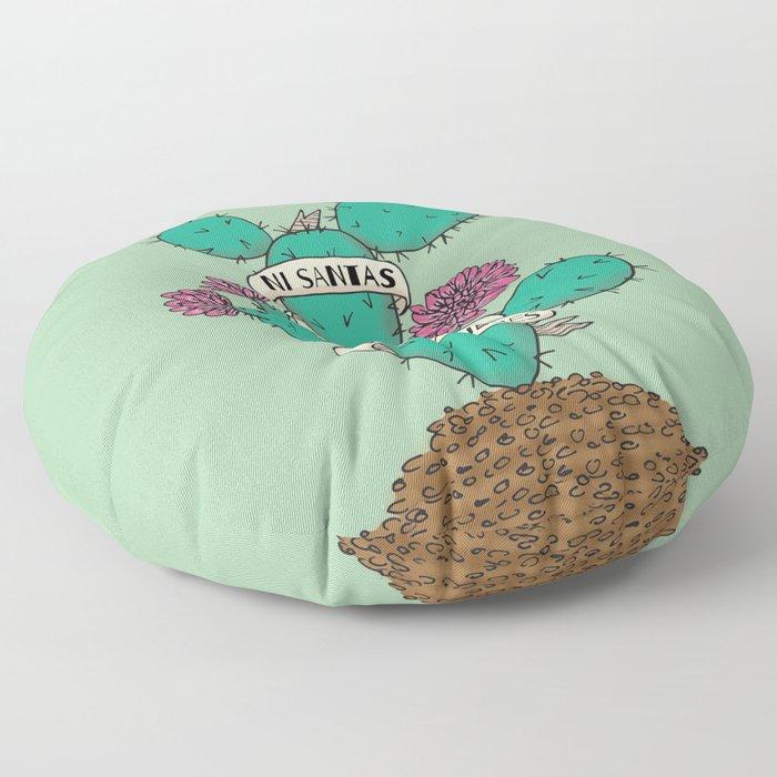Ni Santas, Ni Putas, Solo Mujeres Gallery Print Floor Pillow