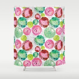 Planets of colors Shower Curtain