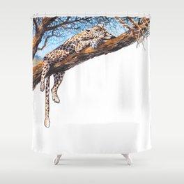 cool cheetah Shower Curtain