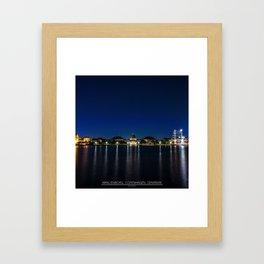 Clear Night in Copenhagen Framed Art Print