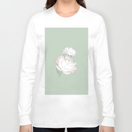 PEONIA - GREEN LILY - Sorbetedelimón Long Sleeve T-shirt