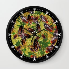 Cockroaches Wall Clock