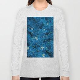 Blue fluorescent indigo flowers Long Sleeve T-shirt