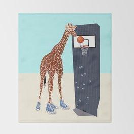New basketball player in the neighborhood Throw Blanket