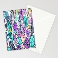 Radiant Feathers Stationery Cards