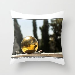 The Ball on the Wall Throw Pillow