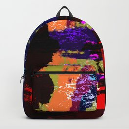 Hina - Abstract Colorful Retro Tie Dye Style Pattern Backpack