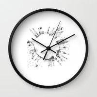 globe Wall Clocks featuring globe  by Naja
