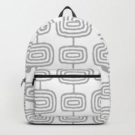 Mid Century Modern Atomic Rings Pattern Gray 3 Backpack