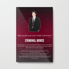 Criminal Minds - Hotch Metal Print