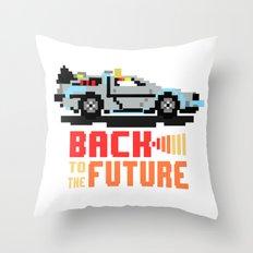 Back to the future: Delorean Throw Pillow