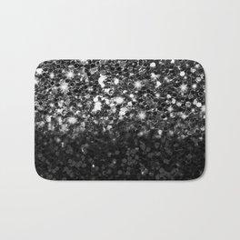 Black & Silver Glitter Gradient Bath Mat