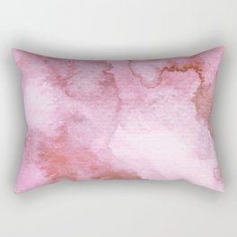 Watercolor pattern red Rectangular Pillow