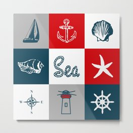 Nautical design 4 Metal Print