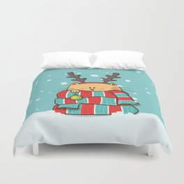 Christmas Cat Duvet Cover
