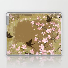 Cute Birds and Cherry Blossoms Laptop & iPad Skin