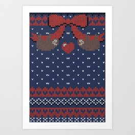 A Lazy Winter Sweater Art Print
