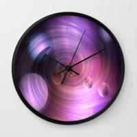 return Wall Clocks featuring Return by Laake-Photos