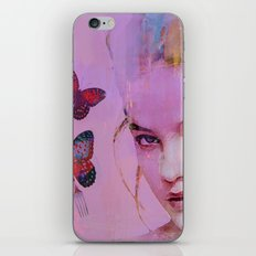 Isabelle and butterflies fork iPhone Skin