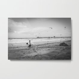 Surfers, Oceanside, California Metal Print