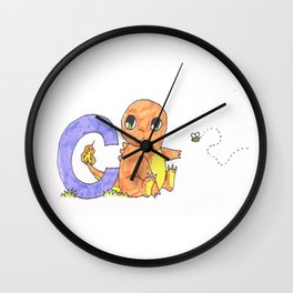 C is For Char Mander Wall Clock