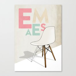 Plastic Side Chair Canvas Print
