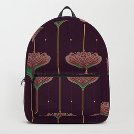 Wallpaper Floral Pattern In Style OF William Morris Backpack