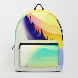 Landscape waterfall orb Backpack