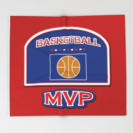 MVP Basketball board Throw Blanket