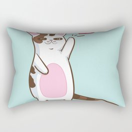 Fatty Catty saying HI Rectangular Pillow