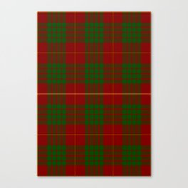Cameron Red & Green Tartan Pattern #2 Canvas Print